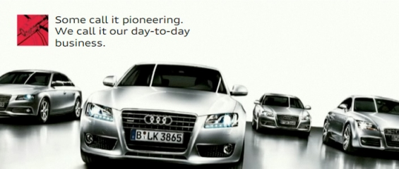 Exclusive and highly luxurious audi