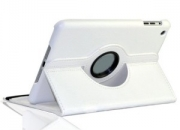 360 degree rotating leather case air ipad white