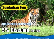5% discount on sundarban tour package