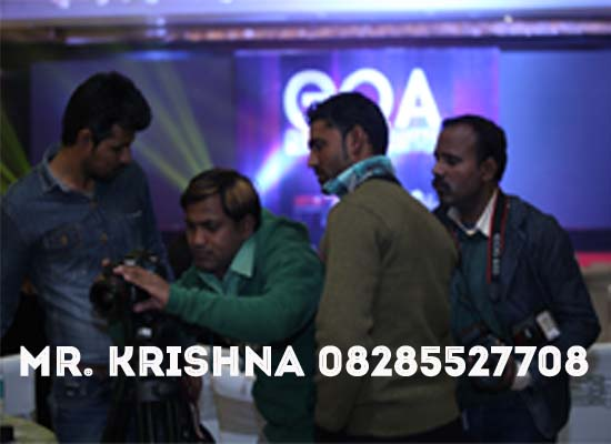 offering camera and lights in event in goa