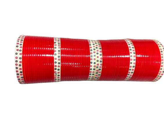 Bridal chura red plain traditional