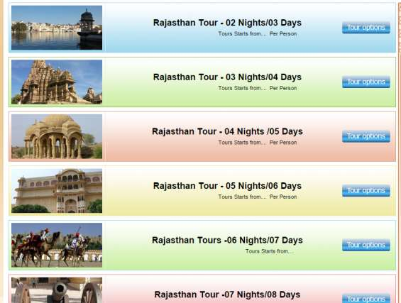 North india rajasthan tours, rajasthan tour and travels packages