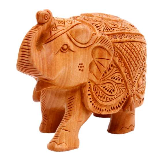 Wooden handicrafts showpiece