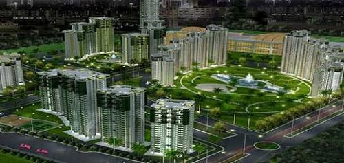 The edge towers in ramprastha city on dwarka expressway in sec-37d, gurgaon india