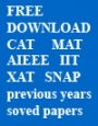 Free Download CAT MAT  AIEEE  IIT solved papers