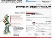 Summer Internship/training Program By IIT-Guwahati