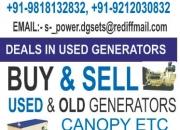 old & used generators