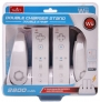 White Wii Double Charge Station with Two-color Charge Indication Light
