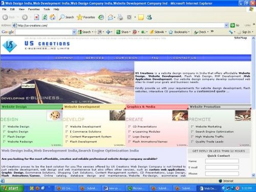 Website design development company new delhi india