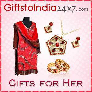 Send apparels and jewellery to her in delhi