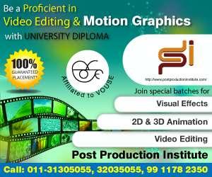 Video editing training, fcp courses, maya training institute delhi