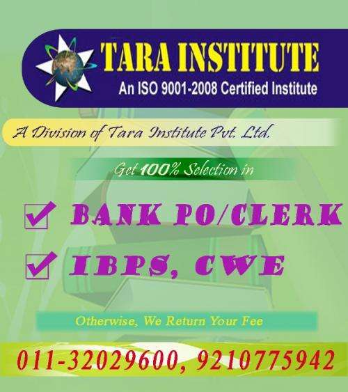 Coaching of ibps exam 2012 coaching for bank po clerk in south ext