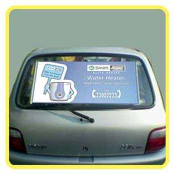 Roller car advertising promotional sunshade with logo, brands or products printing