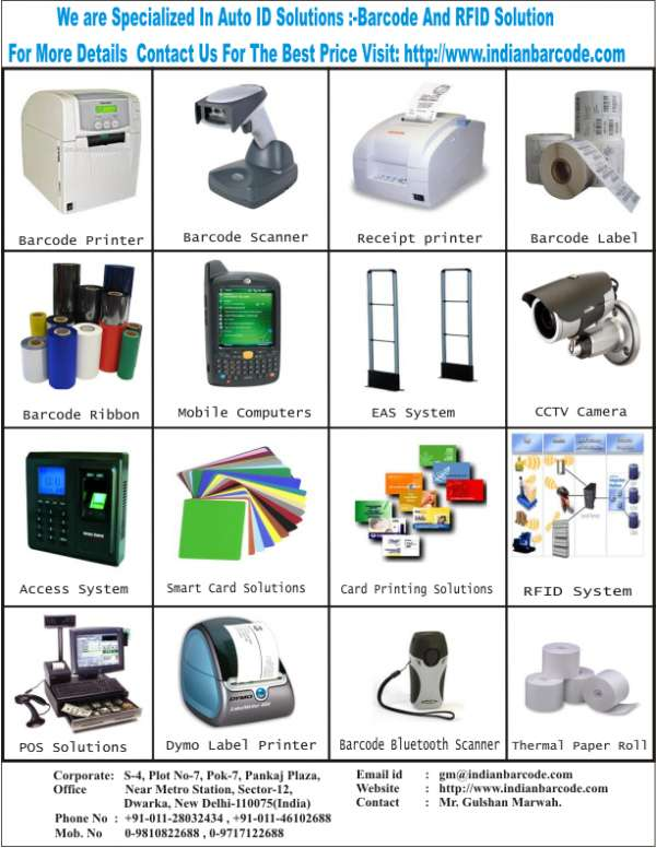 India?s biggest manufacturer & suppliers of all kinds of barcode products