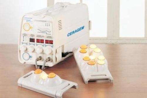 Ceragem machine with two 9 ball projector