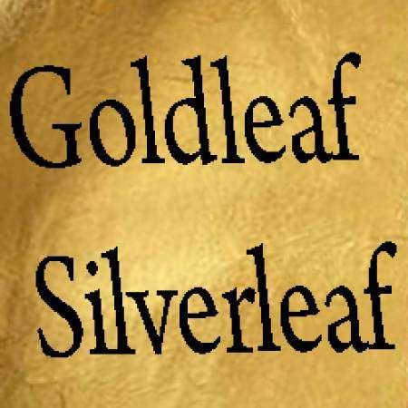 Gold leaf, gilding,silver leaf,goldleaf,silverleaf,gold leaf painting