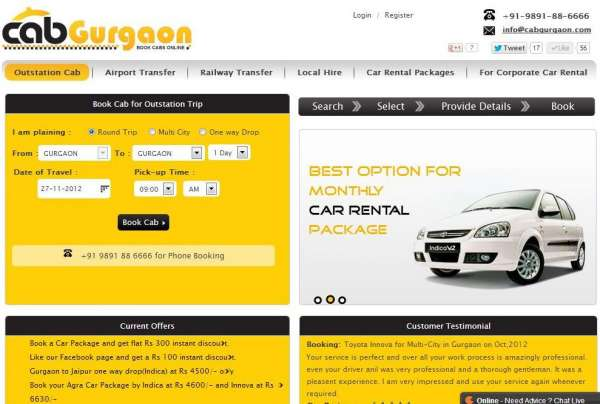 Taxi,cab and car service in gurgaon