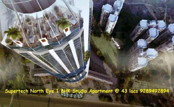 Supertech north eye 1 bhk studio apartment @ 43 lacs 9289492894