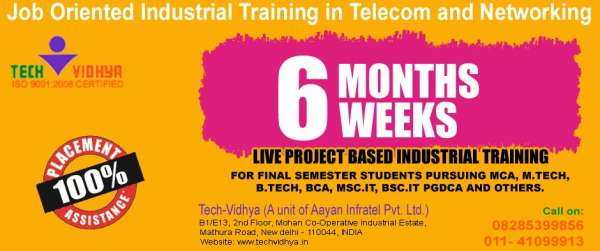 Live project based industrial training in telecom and netwoking