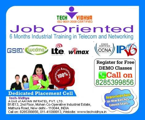 Six month industrial training in telecom