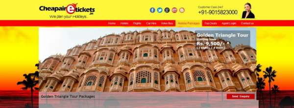 Golden triangle tour packages of 3n/4d at rs.9,500 from noida - delhi
