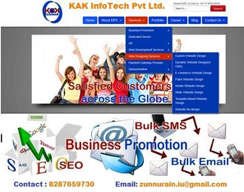 Website designing and developement.