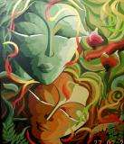 For best looking indian modern,contemporary paintings art by indian artist dhananjay mukhe