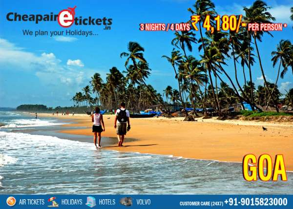 Goa beach holiday packages of 3n/4d at 4180 - only