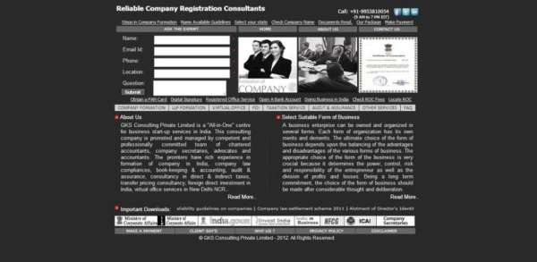 Company formation & incorporation in india - www.companyformationinindia.co.in