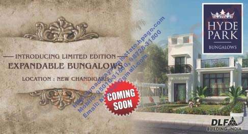 Dlf hyde park bunglow new chandigarh near gmada ecocity and omaxe mullanpur