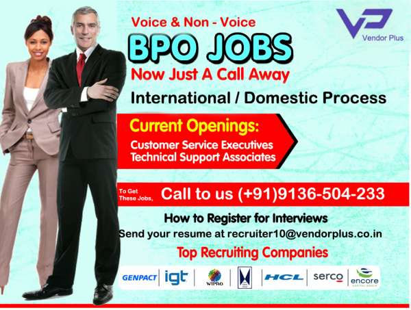 Vendor plus - looking for bpo jobs in delhi ncr