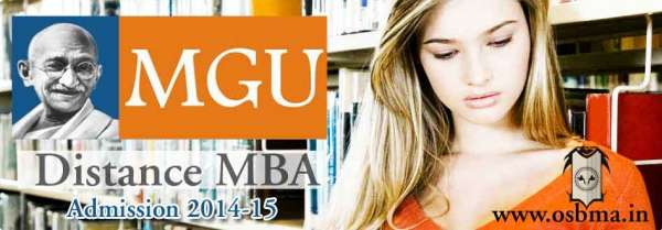 Mgu distance mba course admission in india