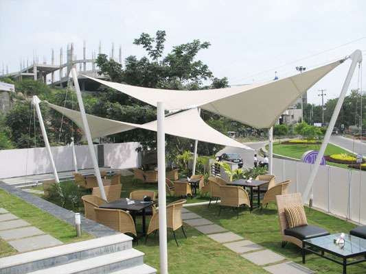 Tensile structures manufacturers in delhi - ekradecor