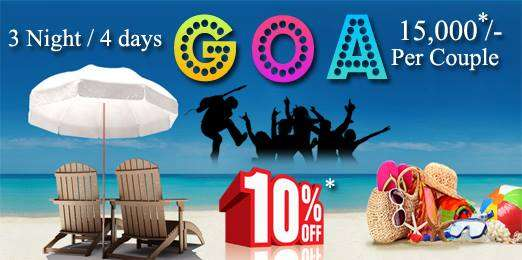 Goa packages, goa tour packages, goa honeymoon packages