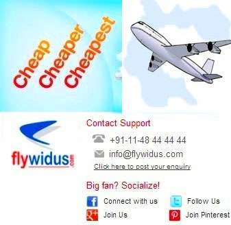 Cheapest domestic flights - lowest price guaranteed flywidus 9718069222