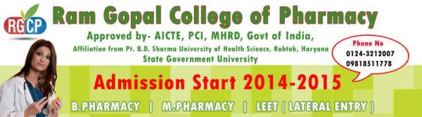 Master of pharmacy college in north delhi ? ramgopalcollege