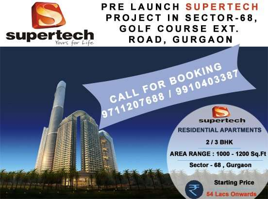 Supertech hues in sohna road @ 8468003302