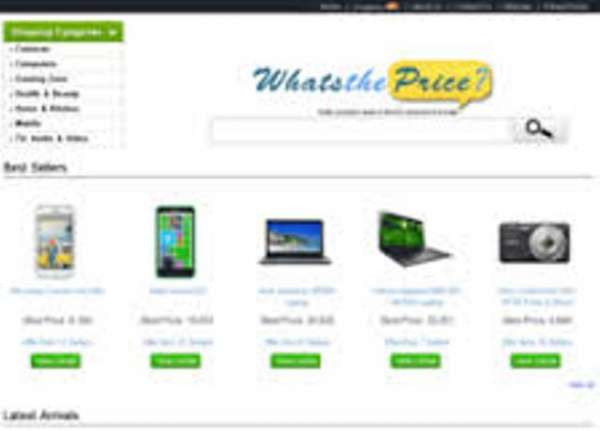 Online price comparison site 2014 - whatstheprice