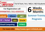 6 week summer training in Delhi NCR