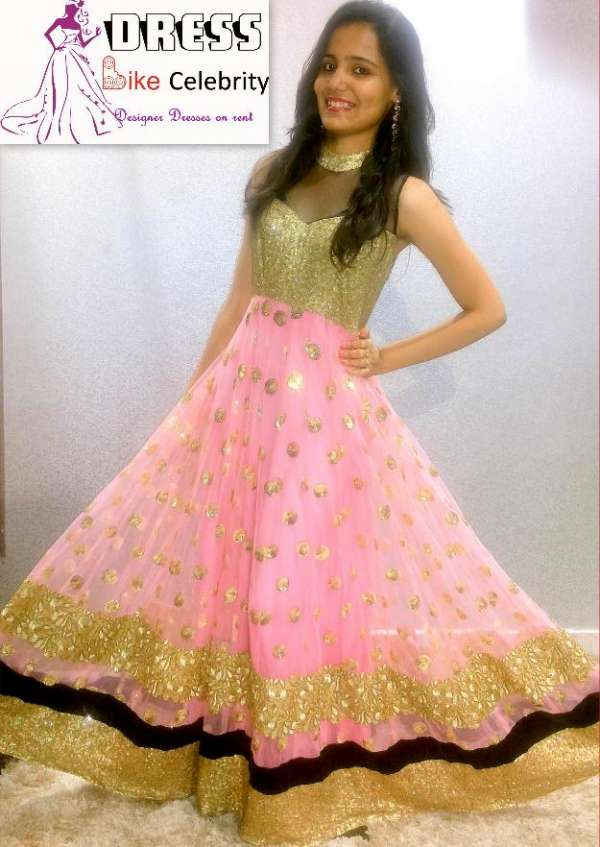 Pink colour dress / gown /lehnga with beautiful embroidery available ...