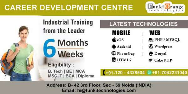 6 weeks/months job oriented training courses in delhi
