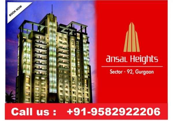 Ansal height 1 , resale 3bhk 1565 sqft @9582922206 sector - 92 gurgaon