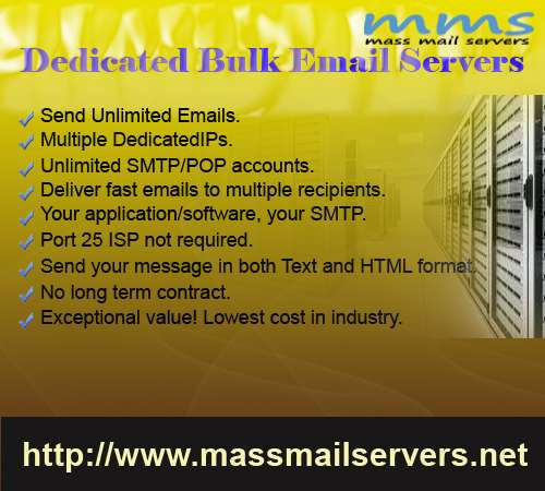 Send unlimited email get 25% discount for all dedicated package.