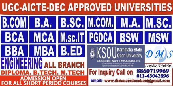 Distance education | get a degree | direct admission | ugc approved universities