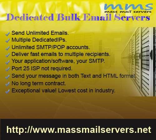 Bulk smtp server & email marketing services