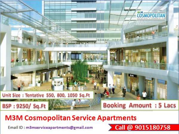 M3m cosmopolitan service apartments @ 9015180758 sector 66 gurgaon