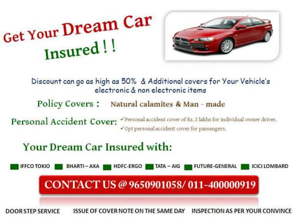 Save upto 50% on your car insurance, call us @ 9650901058