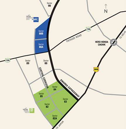 Buy vatika express city residential plots in dwarka gurgaon
