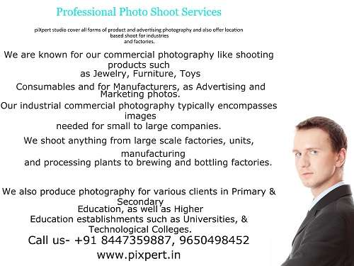 Product and industrial photography services