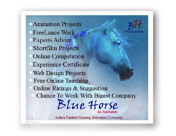 India's top first animation company name blue horse animation industry.